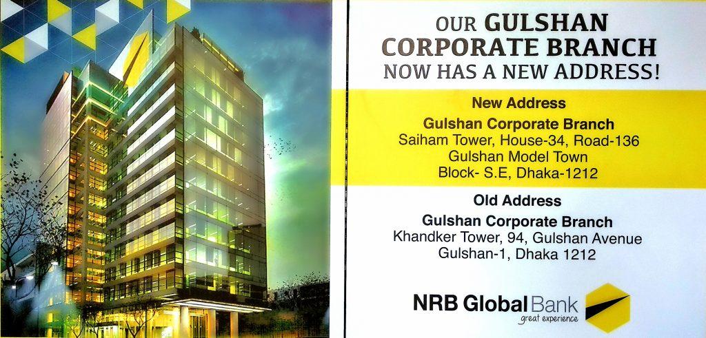 NRB Global Bank – Office Shifting
