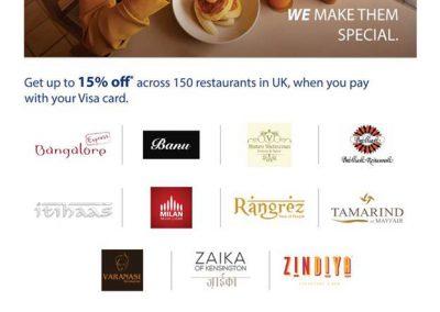 Discount on 150 UK Restaurants