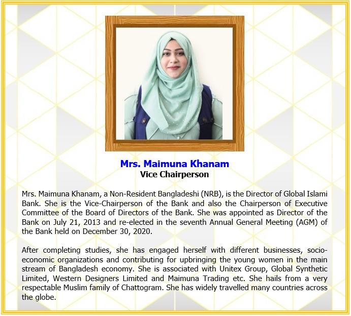 Mrs. Maimuna Khanam, Vice Chairperson