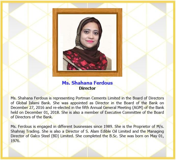 Ms. Shahana Ferdous, Director