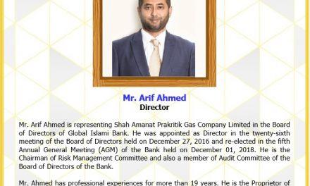 Mr. Arif Ahmed, Director