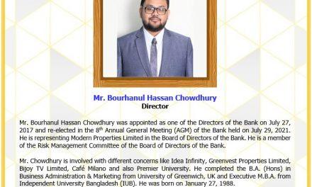 Mr. Bourhanul Hassan Chowdhury, Director