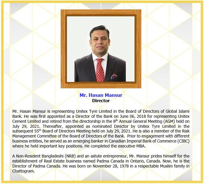 Mr. Hasan Mansur, Director