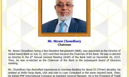 Mr. Nizam Chowdhury, Chairman