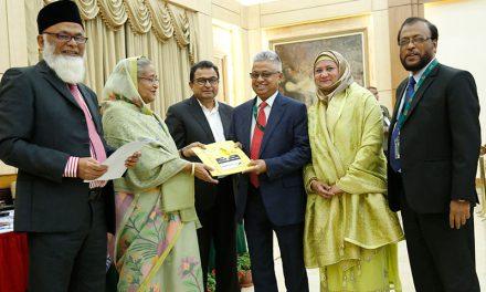 NRB Global Bank Limited donated Tk. 01 crore for marking the birth centenary celebration of Bangabandhu